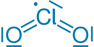 chlordioxid vzorec